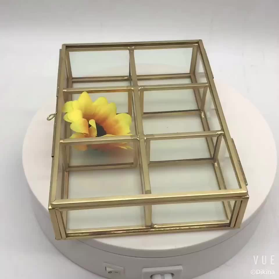 Jewelry Display Tray Case Organised with lockable lid Top Quality - Brass- Wed Christmas Decorations multipurpose storage box