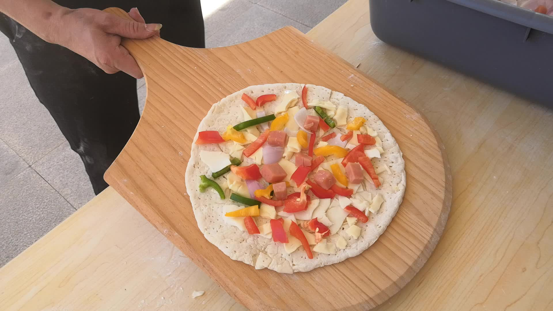 Nuovo Design Tavolo In Ceramica in legno che brucia pizza forni