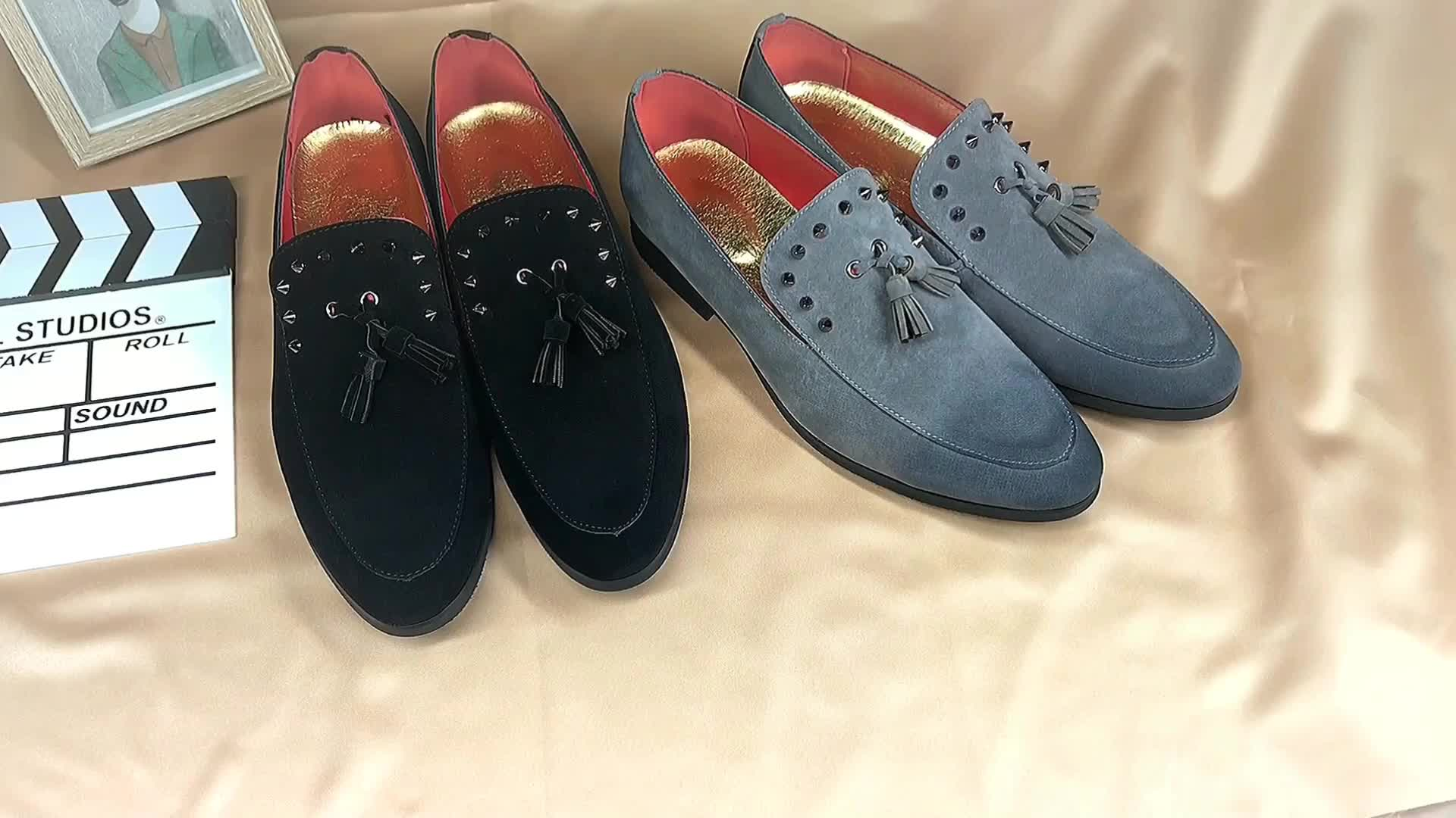 New Style Italy Luxury Leather Tassel Loafer Shoes Men