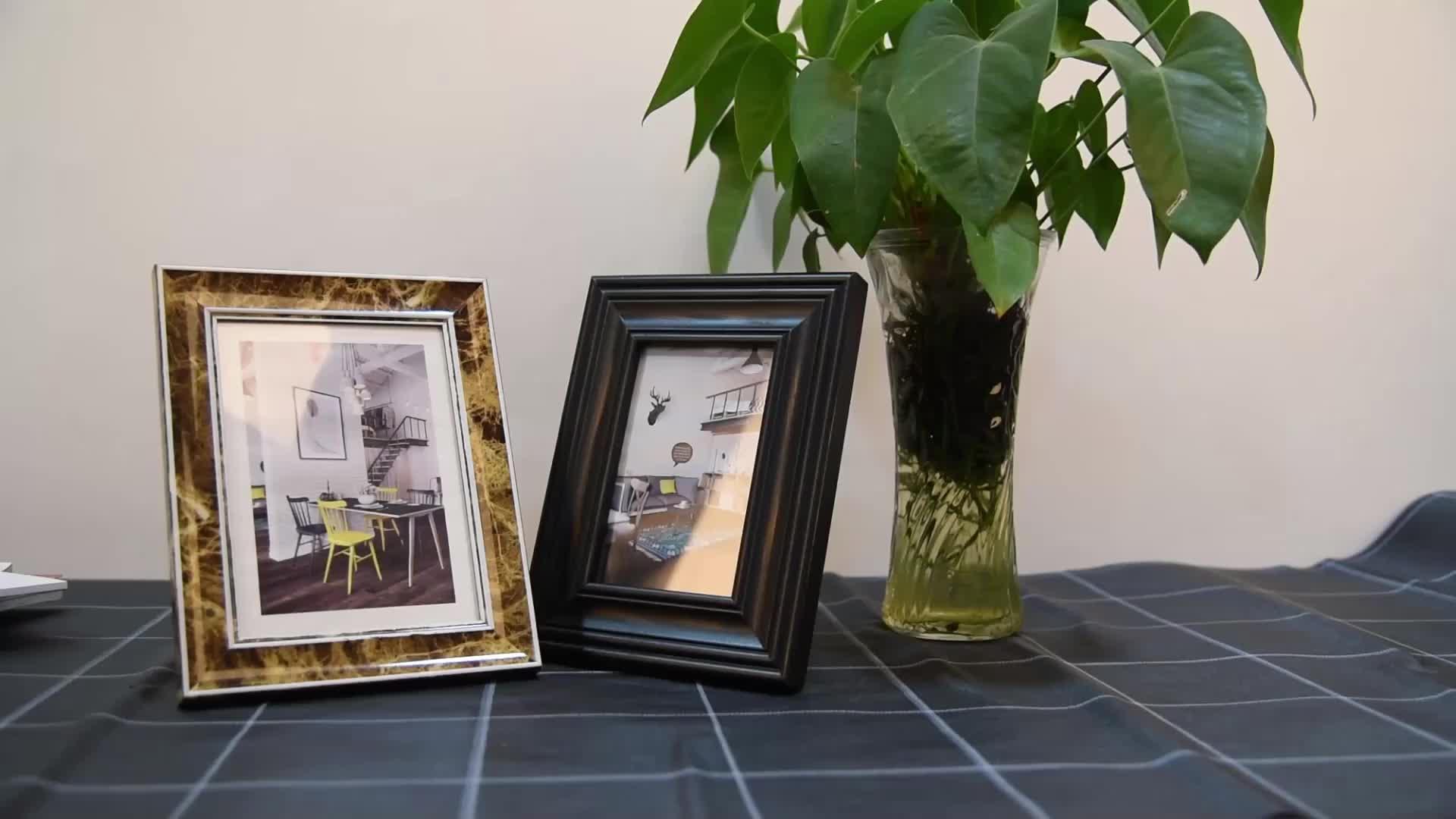 Premium Quality Modern Classical Matt Golden Painting Art PS Frame Moulding for Home Decor