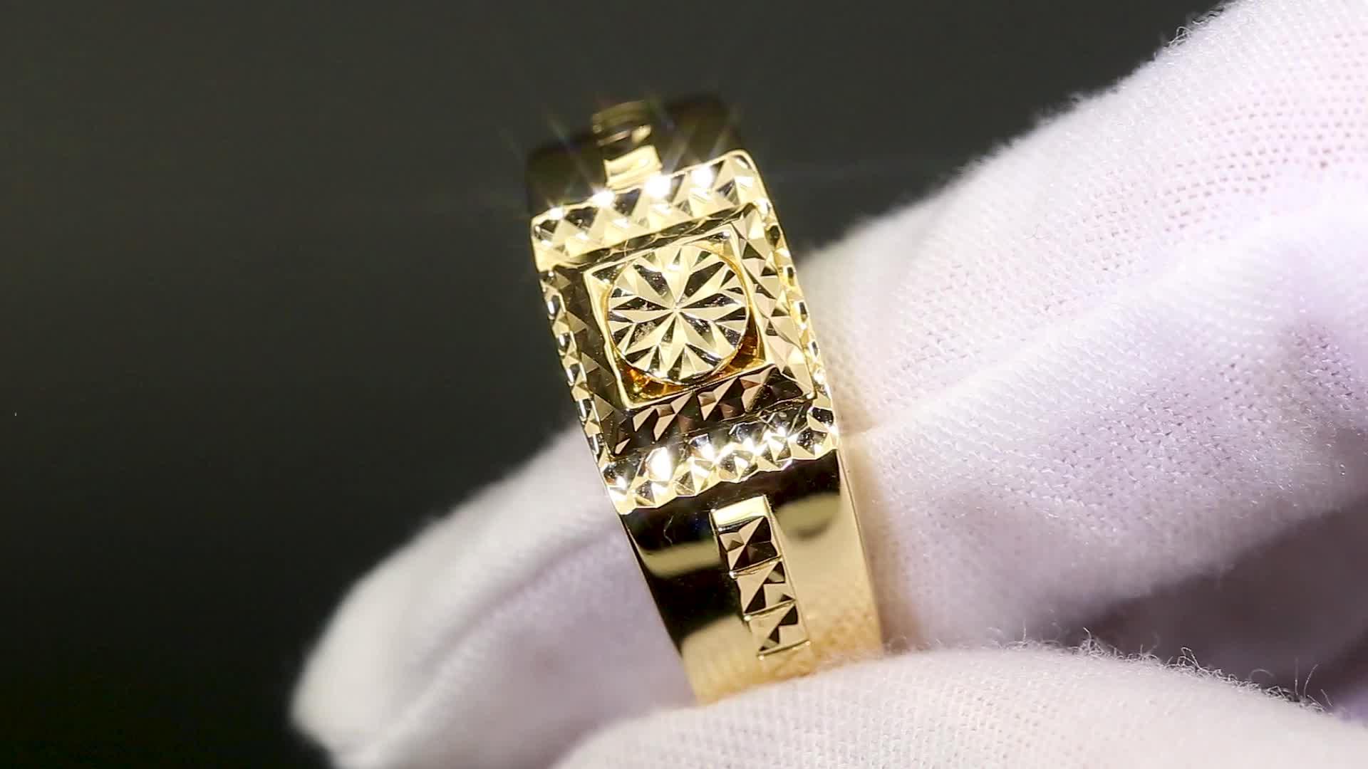 Messi Đá Quý Tùy Chỉnh Đồ Trang Sức Hoa Hồng Trắng Vàng Engagement Wedding 14 K 18 K Đồng Bằng Nhẫn Vàng Cho Nam Giới