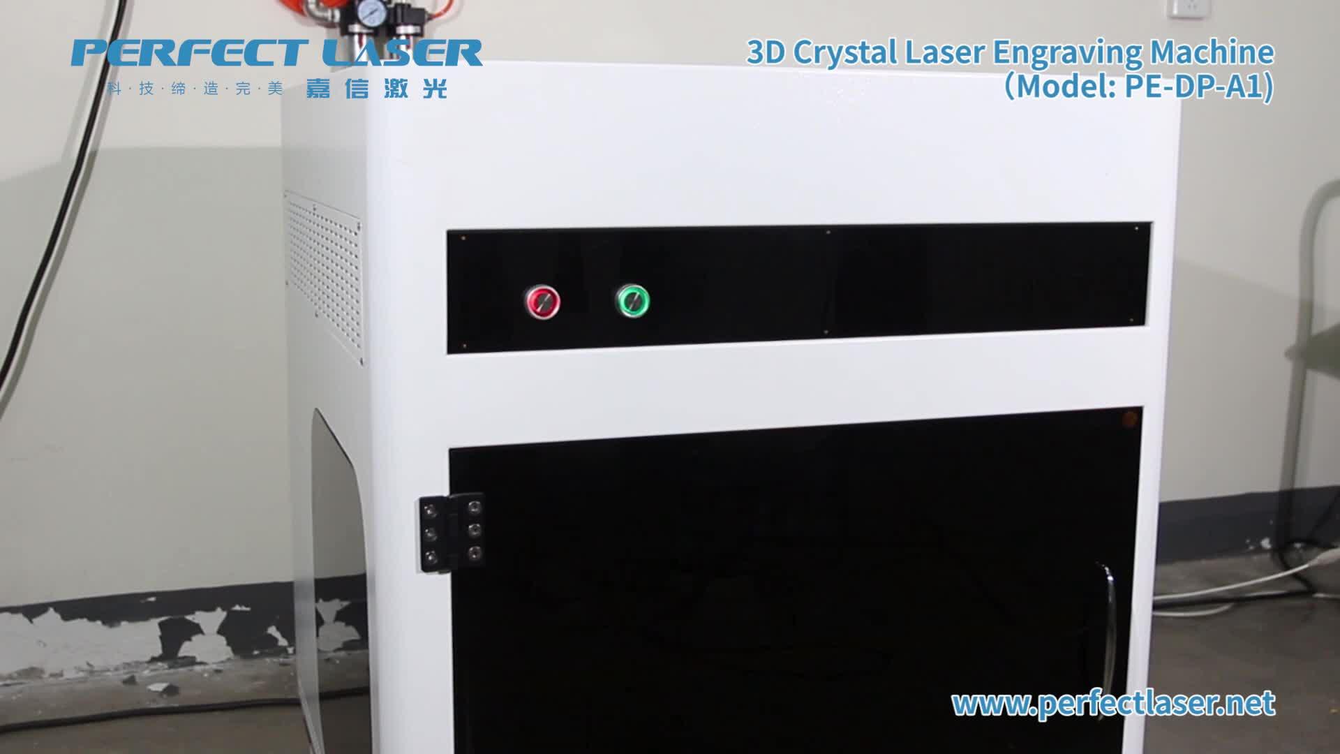 3D Laser Innere Glas Kristall Gravur Tragbare Glas Cube Laser Gravur Maschine
