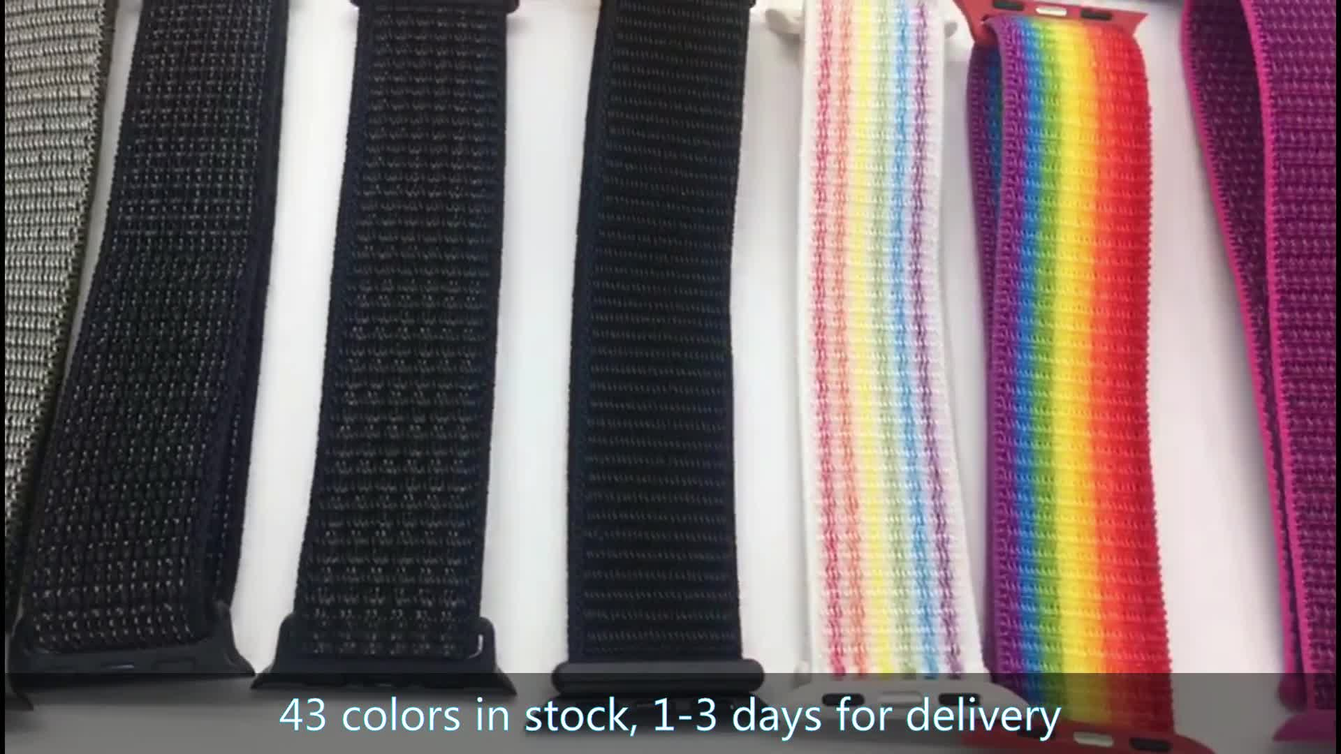 New Colors Nylon Strap For Apple 4 44/42 38/40 Hook Loop Smart Watch Strap Band