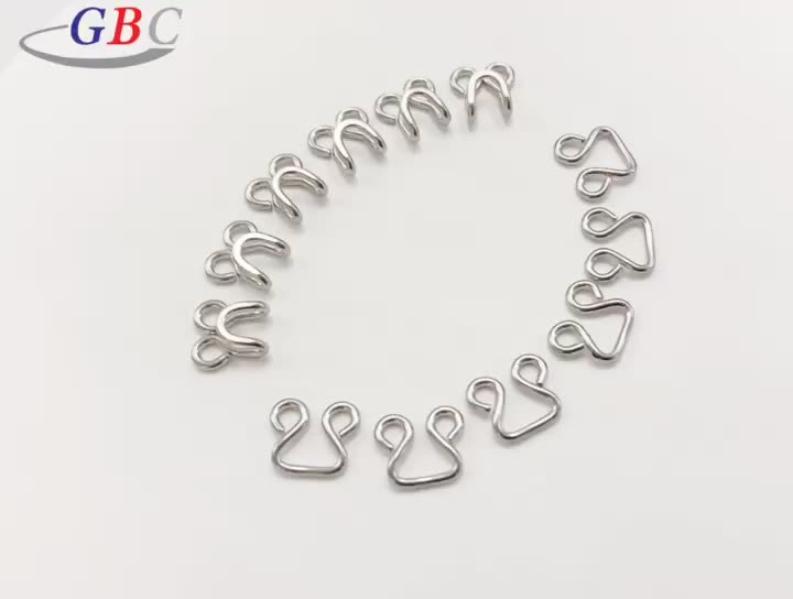 Wholesale metal brass bra hooks and eyes for garment use