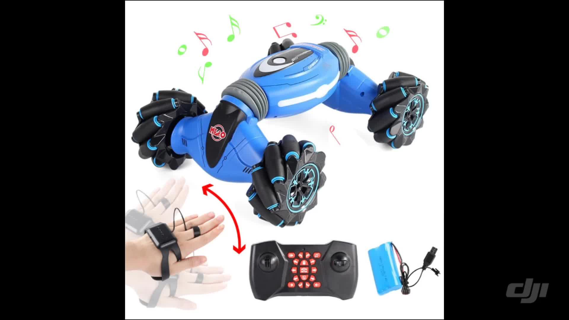 Relógio Da Mão de Controle Remoto RC 2.4ghz 4wd Transformar Torção Gesto Sensor de Escalada Dublê Carro de Brinquedo