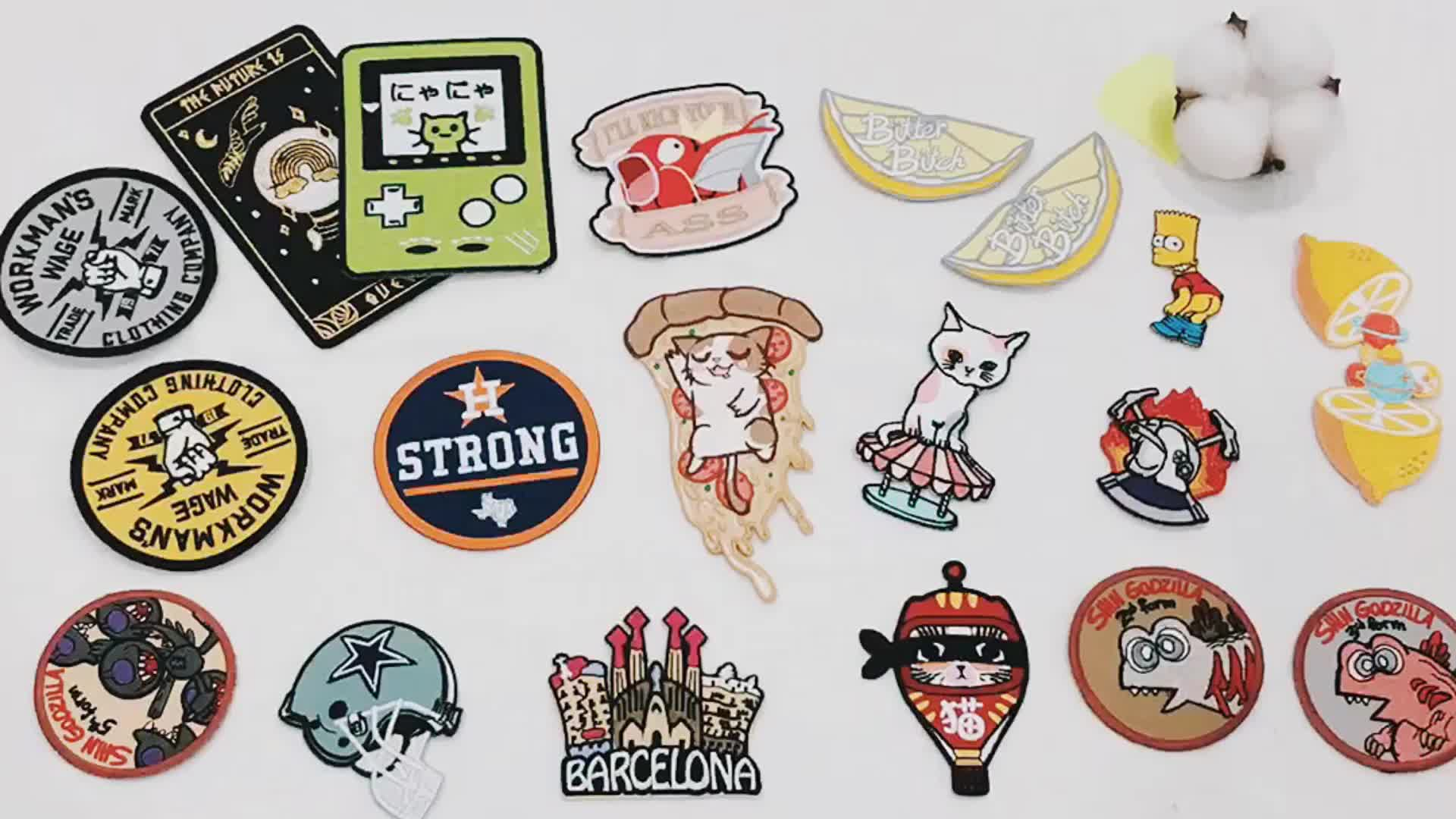 Wholesale Heat Cut Custom Animal  Embroidery Patches Custom Clothing Patches