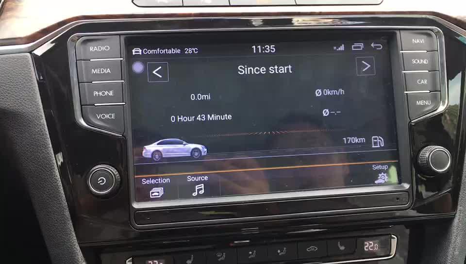 Touch screen car radio navigation system for PASSAT B6 B7 CC MIBIV-886