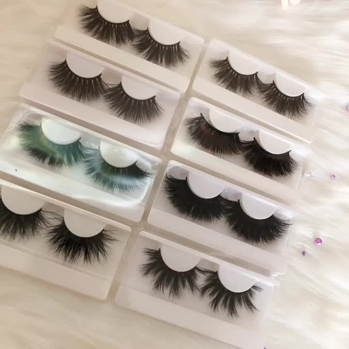 New Arrival 3D mink eyelashes 27 Mm 5D Mink Eyelashes Lashes with Private Label box