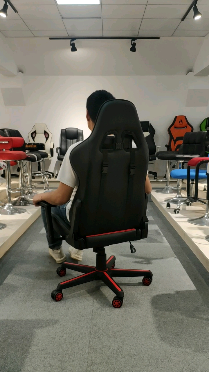 Racing Car Style Gaming Chair with Fixed Armrest for Home Office Video Game Room