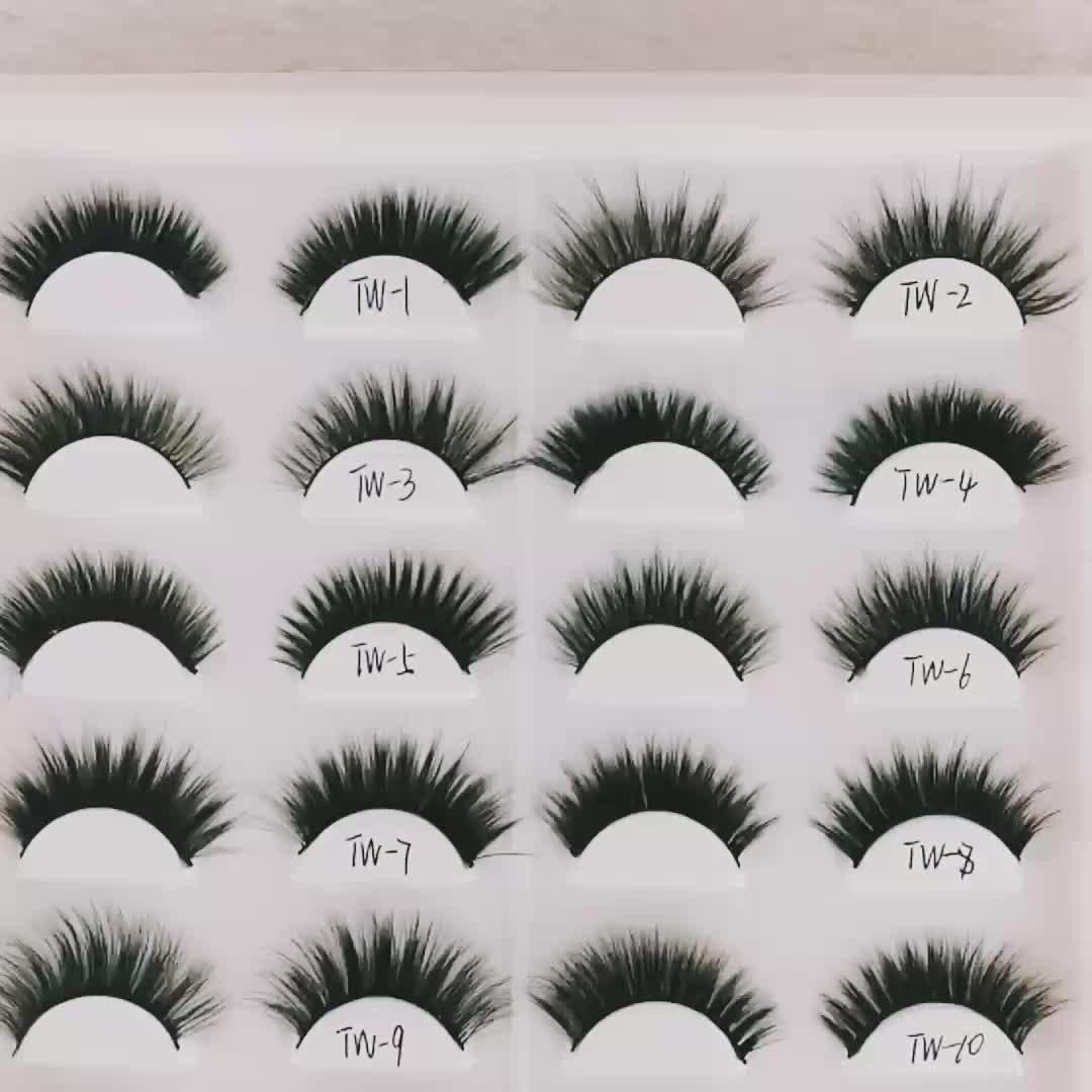 DS 3d faux mink lashes ขายส่งขนตาปลอม