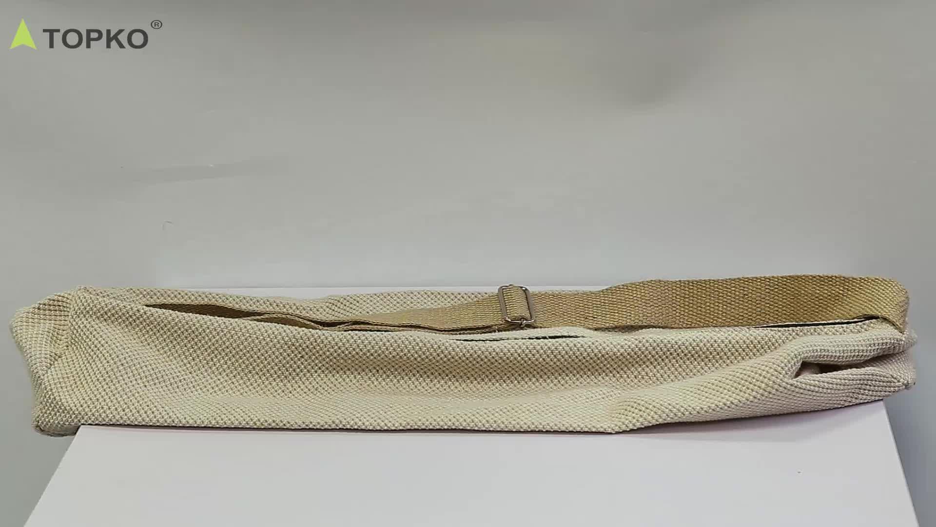 TOPKO оптовая продажа высокое качество мобильности Портативный Регулируемый йога носить коврики сумка