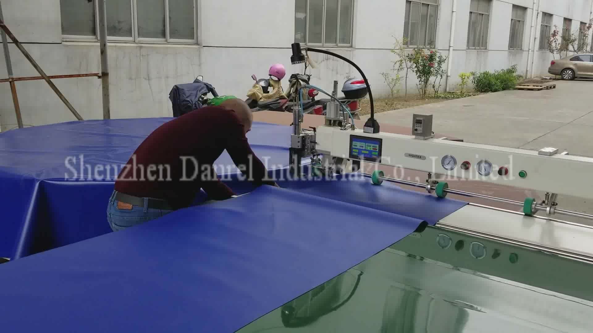 Shenzhen DANREL Hot Air and Wedge PVC Vinyl Floor Welder Seam Sealer for Sale with Automatic Fabric Puller
