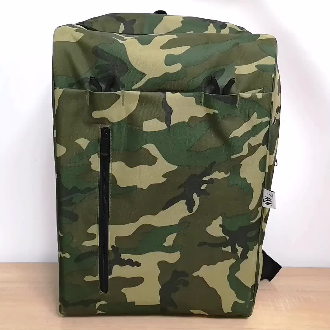 Custom Luggage Duffle Travel Bag Large Capacity Sneaker Backpack With USB Port And Rain Cover