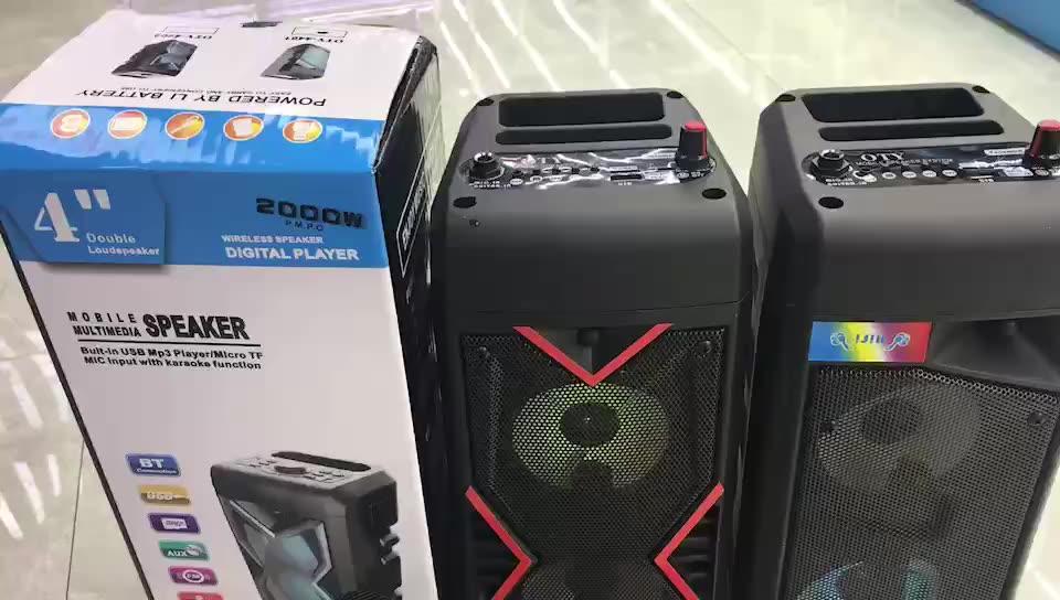 Speaker Aktif Amplifier Modul Fashion Populer Portable LED Bluetooth Speaker dengan Mikrofon Mendukung FM TF Kartu USB AUX