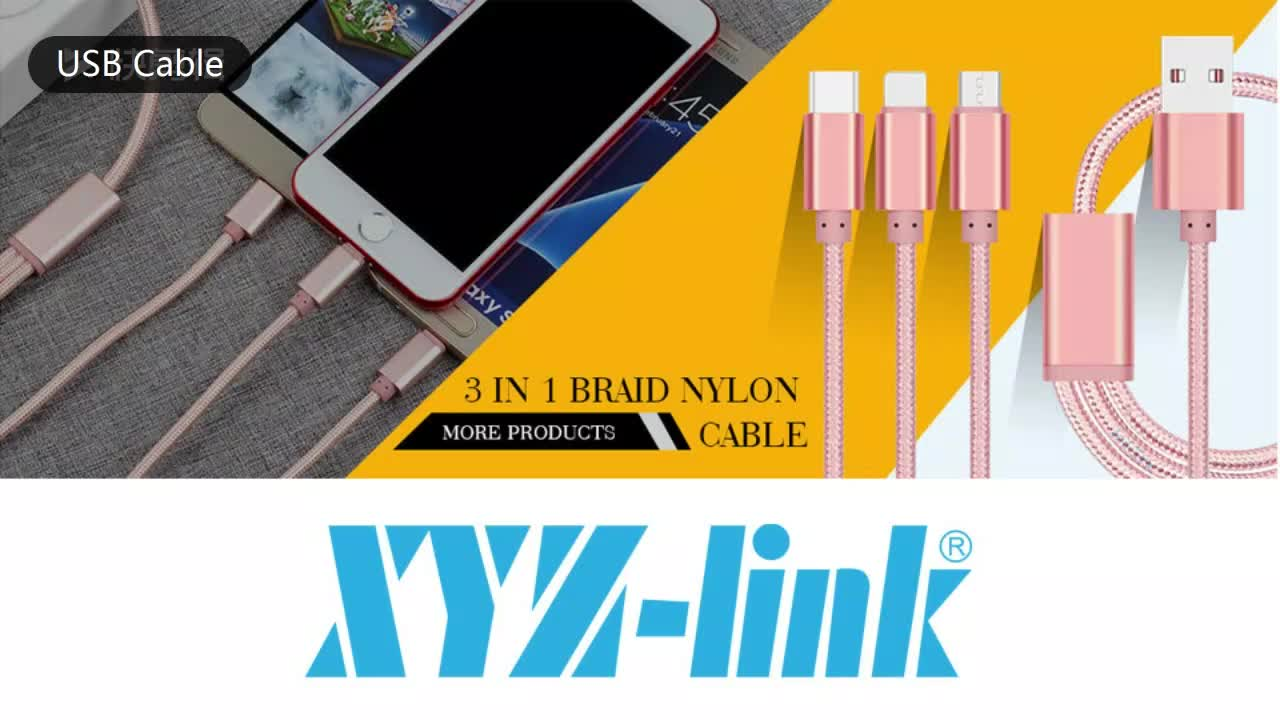 Cheap 2M/6FT Silver Color Nylon Braided USB Data Cable for iPhone from XYZ-link
