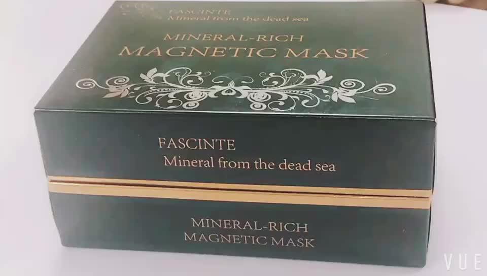 Private label Ölü deniz çamur maskesi derin temizlik Mıknatıs çamur yüz maskesi