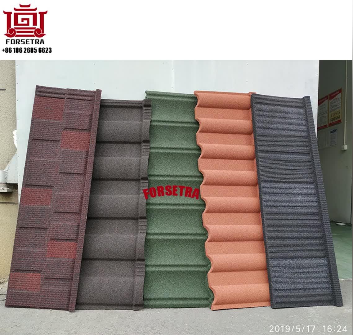 Salato Resistente Versatile Decras Soncap chip di pietra rivestito tetto in acciaio piastrelle in metallo per Abia