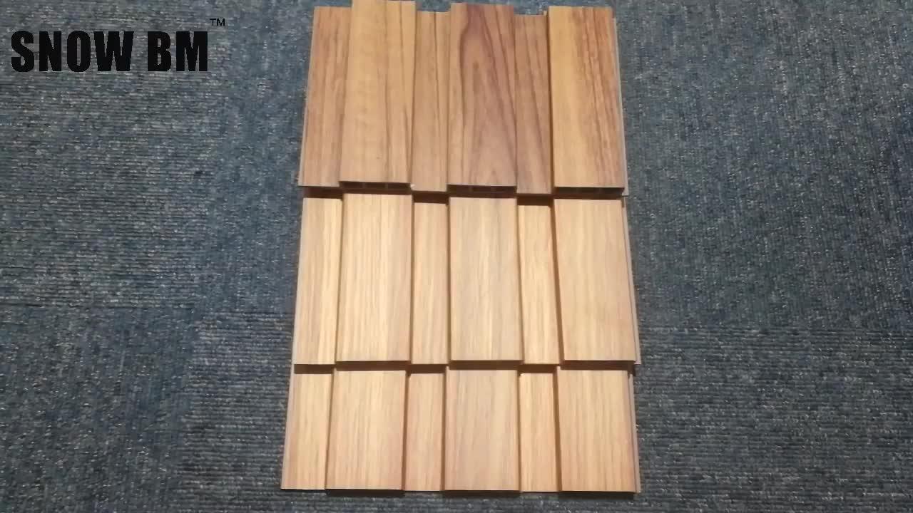 Color de madera de diseño de sonido WPC azulejo del techo