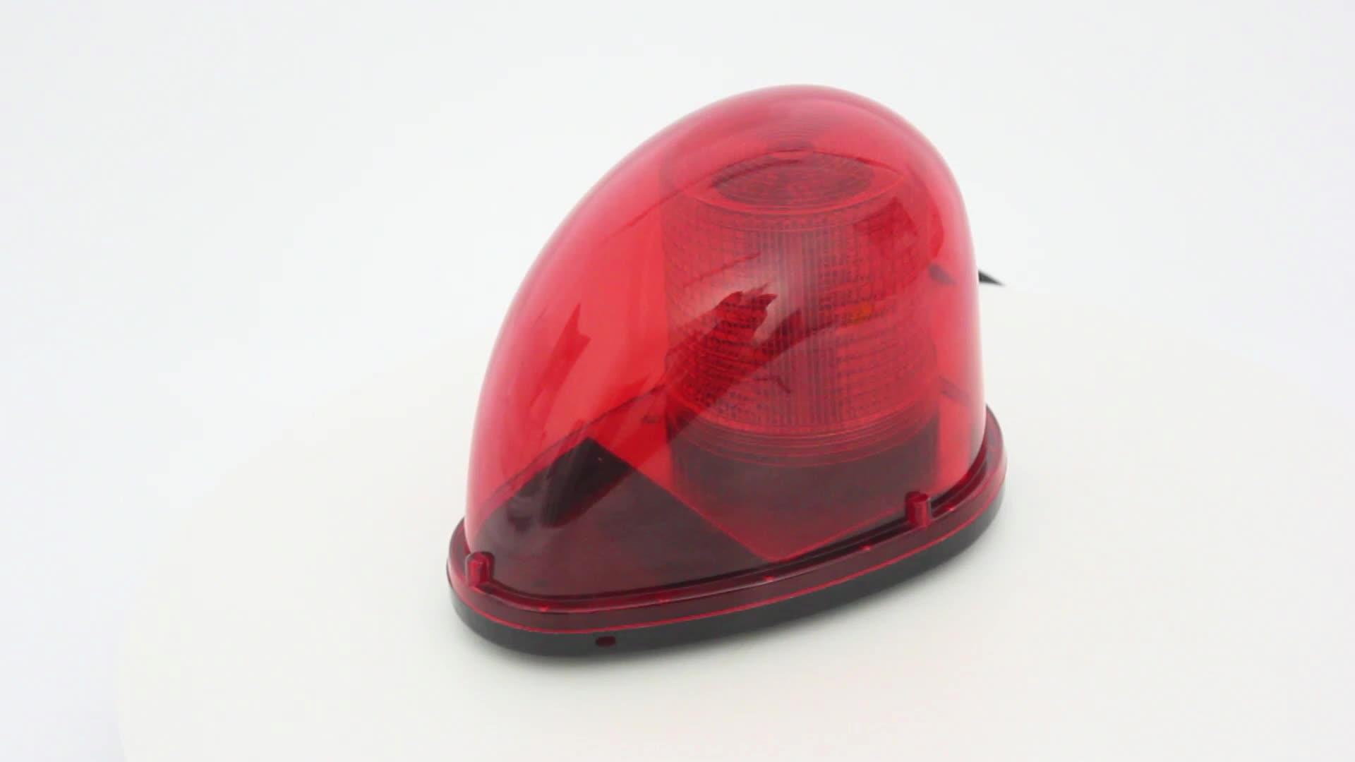 12 24V LED High Power Mobil Magnetic Peringatan Flash Beacon Red Strobo Darurat Beacon