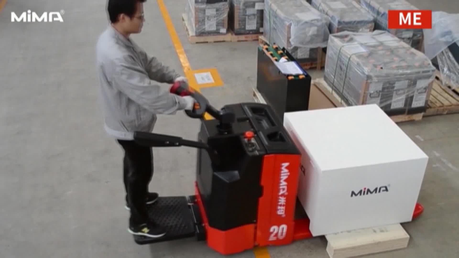 MIMA 2500 kg elektrische hubwagen mit DC motor