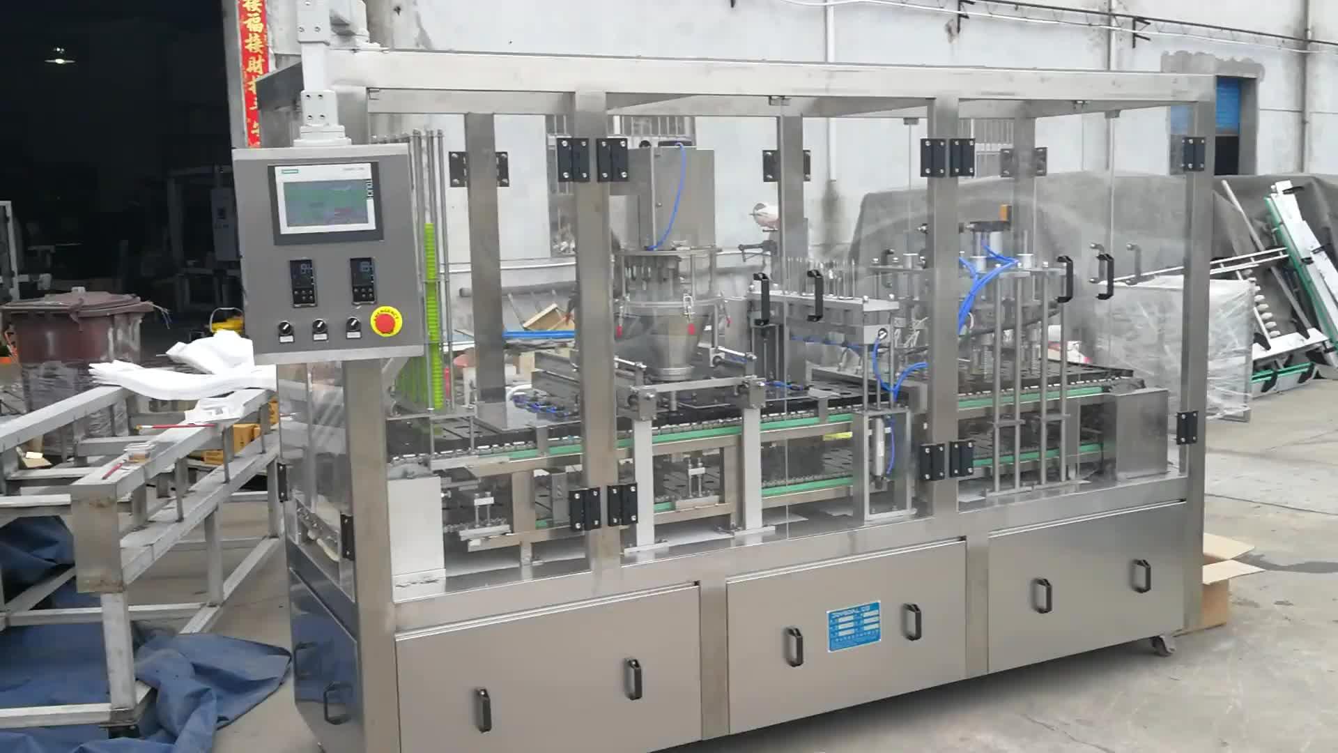 Automatische nespresso capsule vullen en sluitmachine door professionele productie