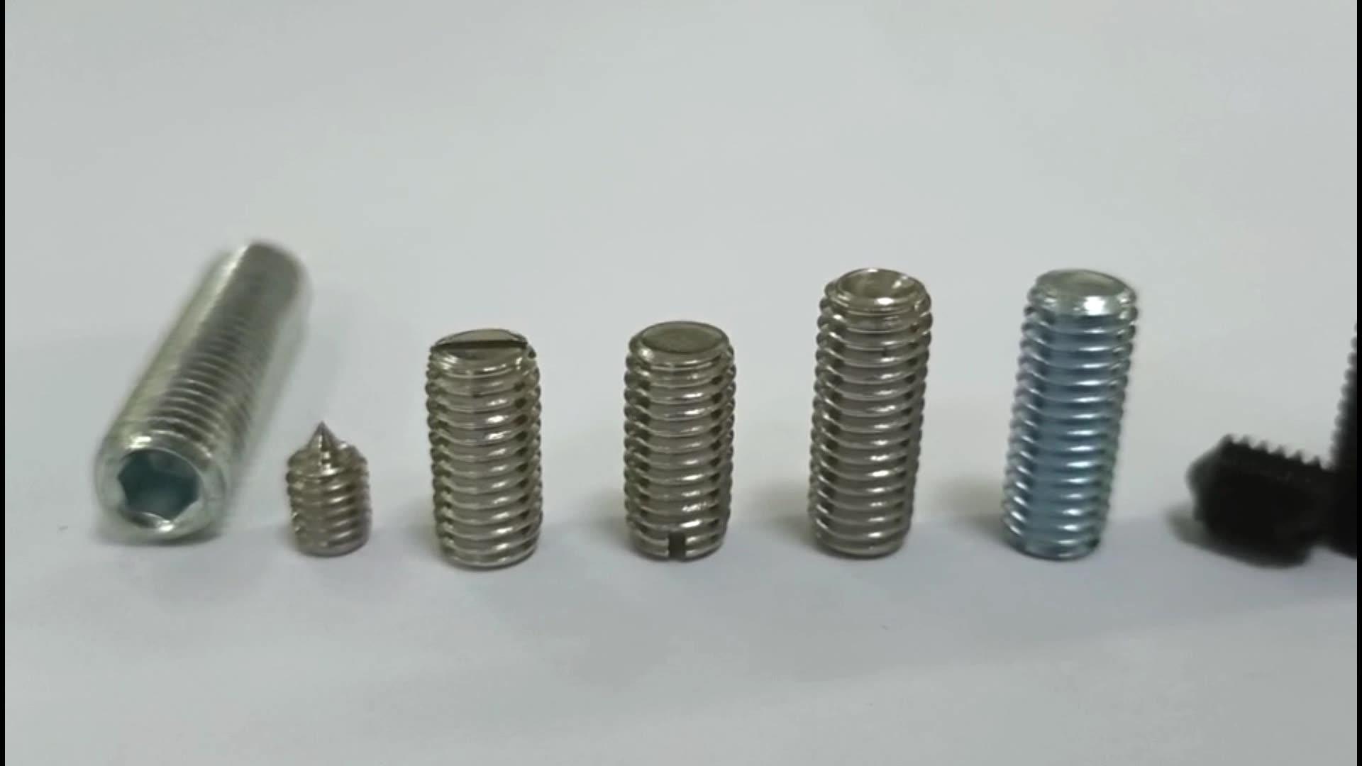 M12*10-M12*40 SS Hexagon Socket Set Machine Screw With Flat Point