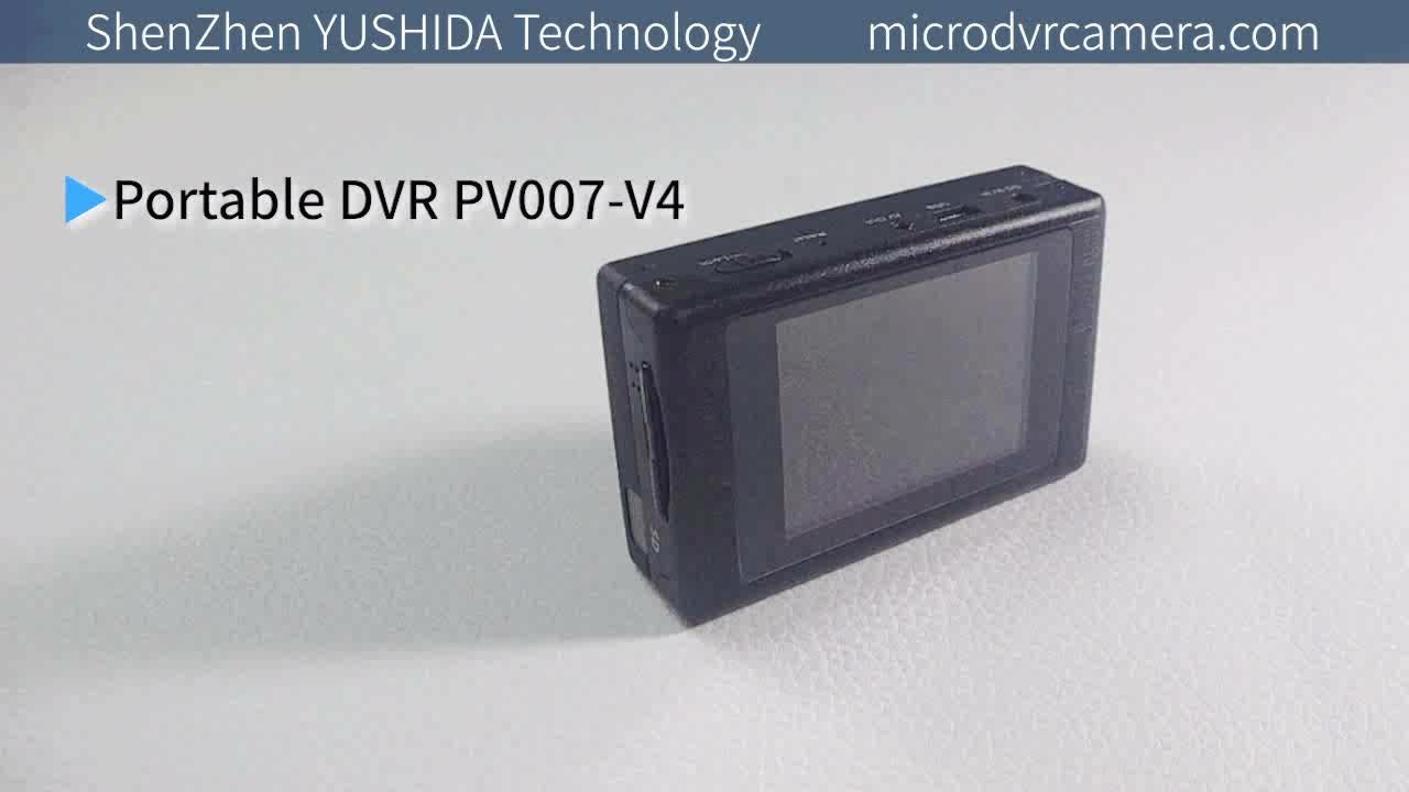 Mini SD DVR Audio & Video Recorder With 2.4  LCD Display CVBS Input