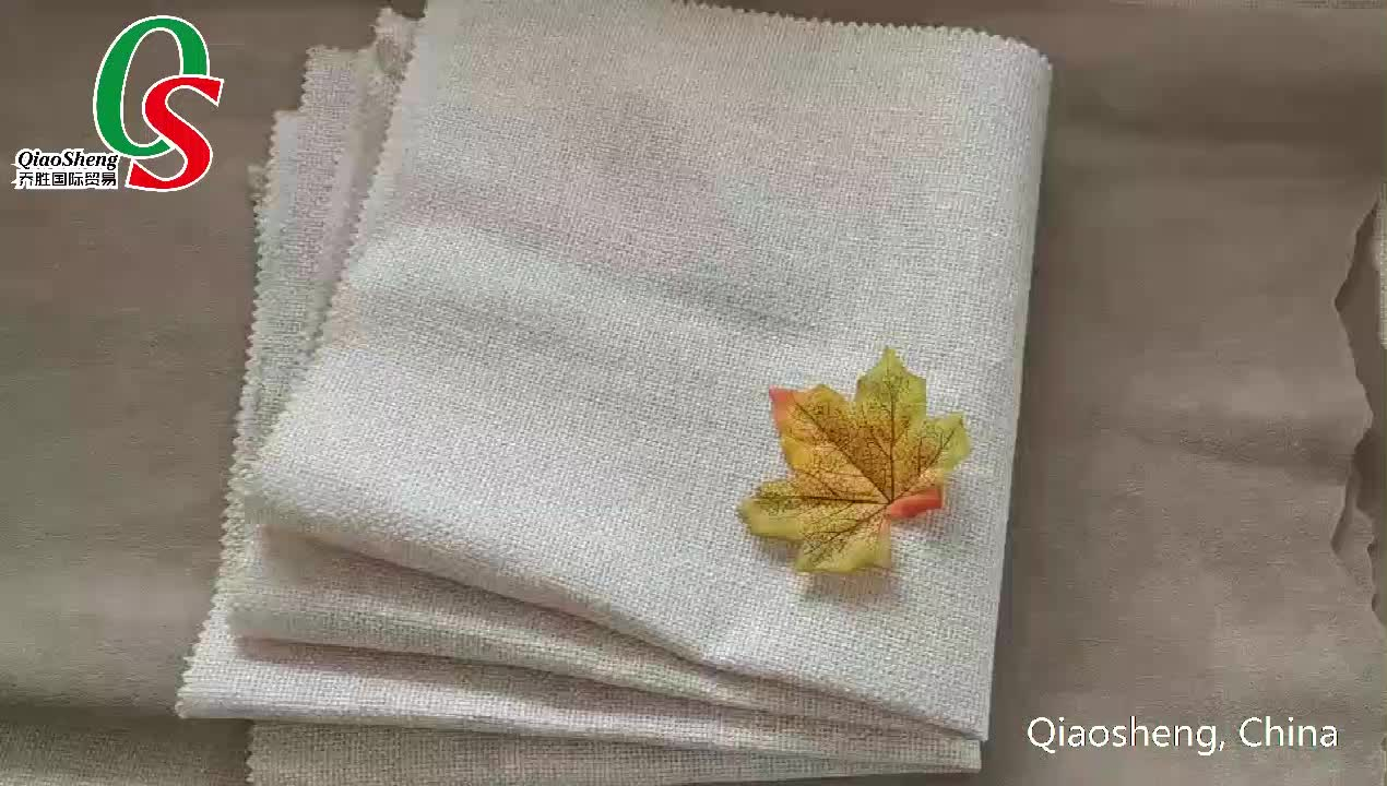 Factory wholesale100%polyester mixed linen coated outdoor furniture fabric for home textile and bedding