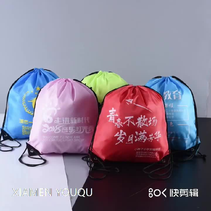 Wholesale Top quality  Draw String Sport Backpack Drawstring Bag