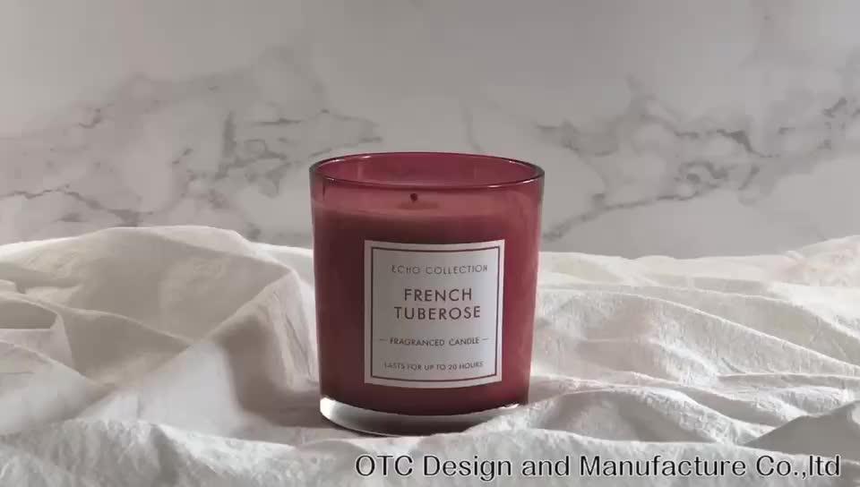 Wangi Lilin Lilin Kedelai dengan Kotak Hadiah/VANILLA ORCHID & ALMOND Mewah Fragrance Gift