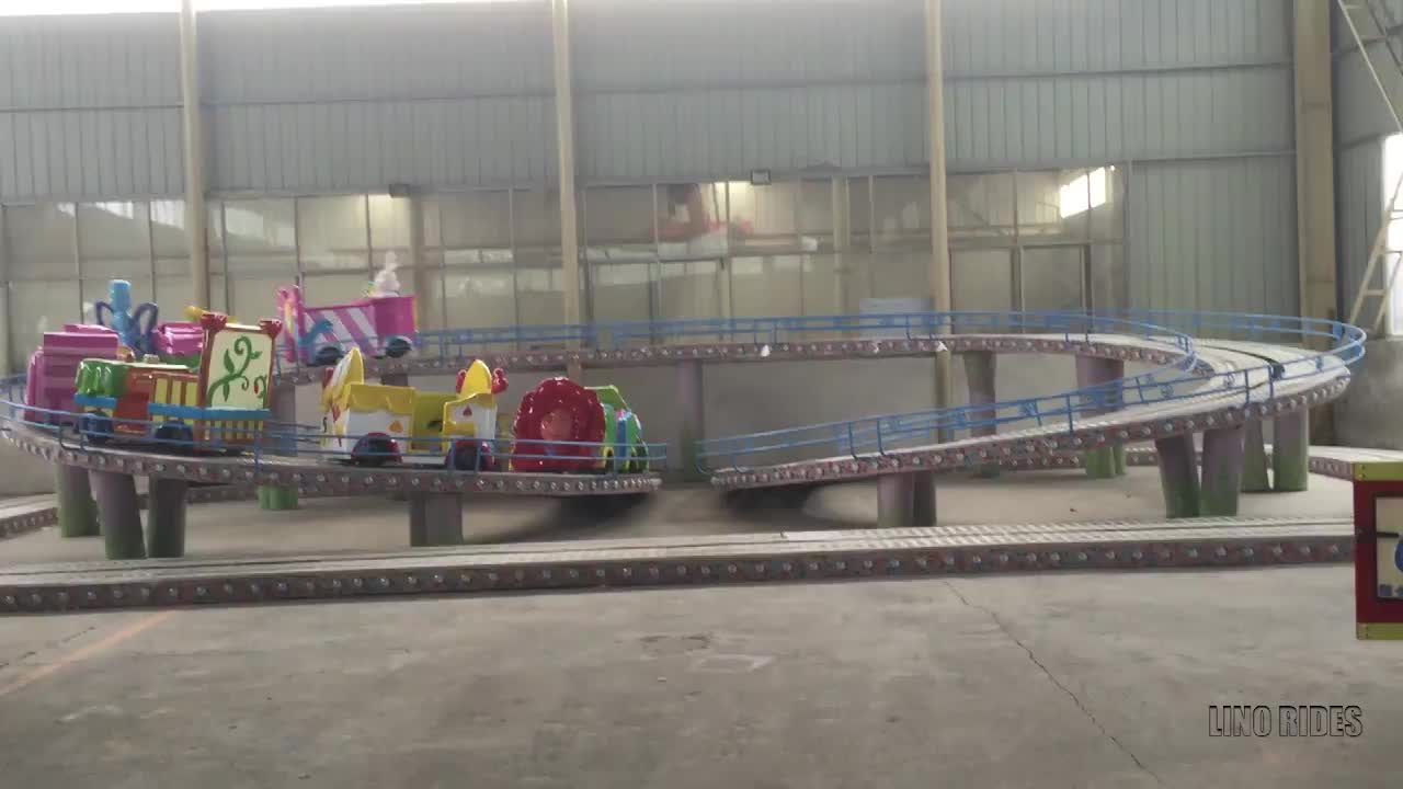 Family ride children amusement track train mini shuttle for sale