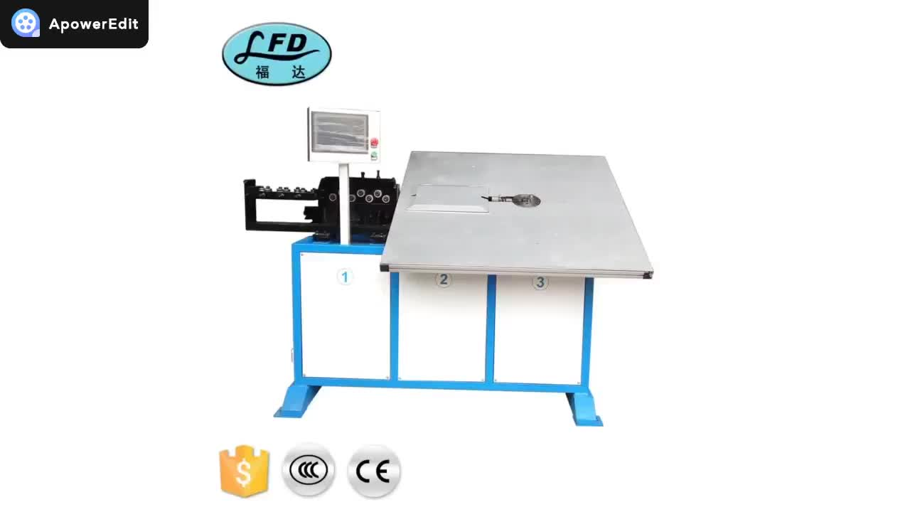 Automatic High Precision CNC 2D Steel Wire Bending Machine