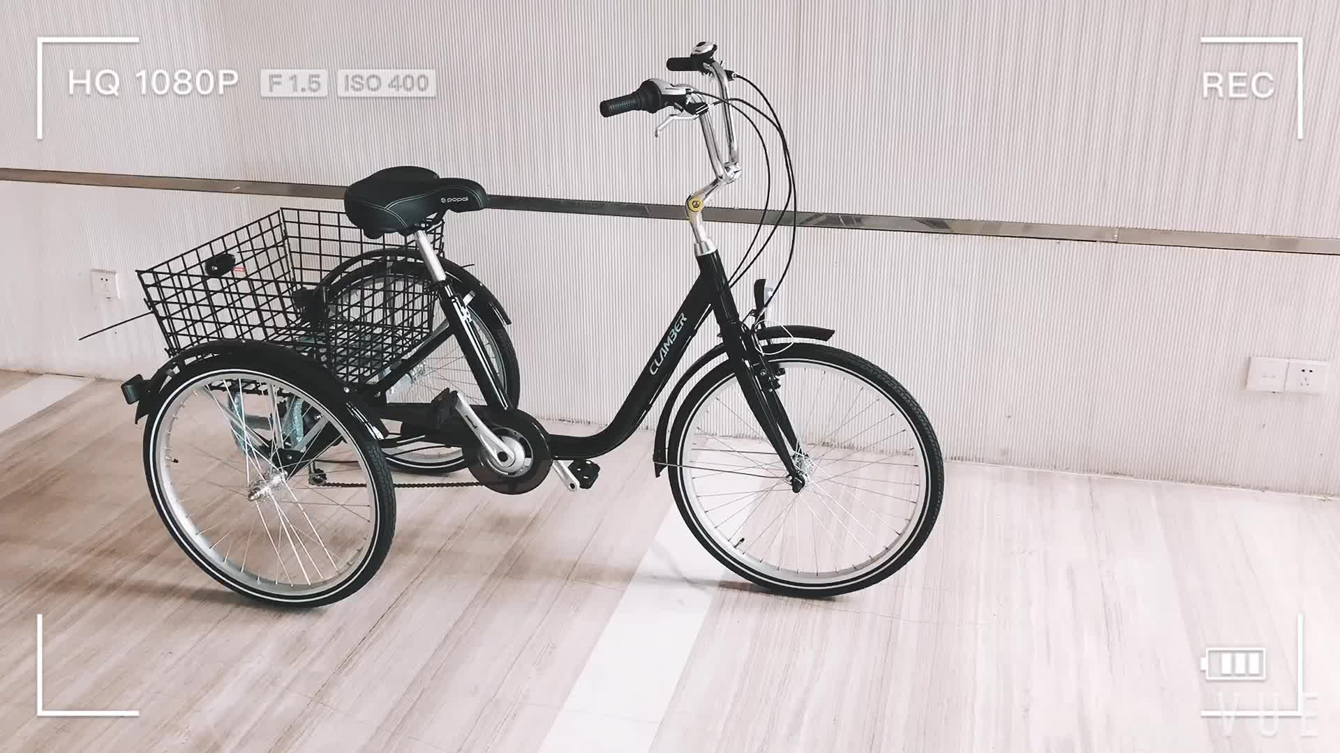 tricycle with fat tire cargo bike beach bike bicycle 20*4.0 tire GW-7022
