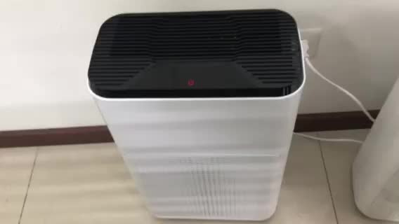 Desktop PM2.5 air purifier small OEM ODM home appliance with activated carbon air filter