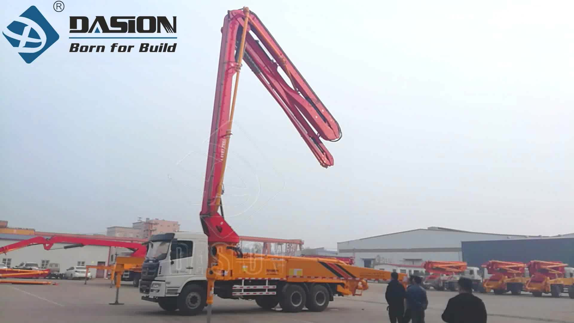 Adjustable Small Mobile Truck Mounted Cement Concrete Pump Truck with Boom 25m 28m 33m 37m