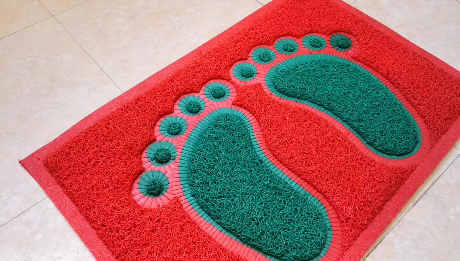 Hecho Mejor Venta de precio barato de alta calidad de pvc antideslizante impermeable piso alfombra de baño