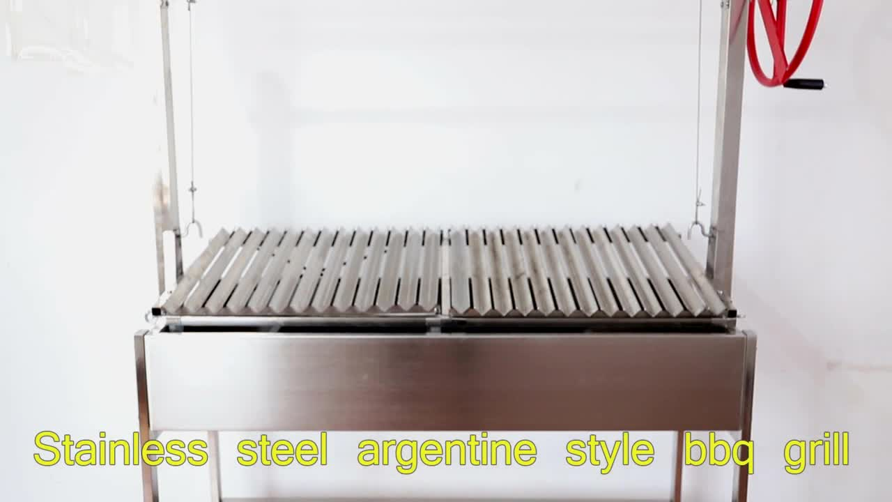 Charcoal Grill Adjustable Heights Argentina