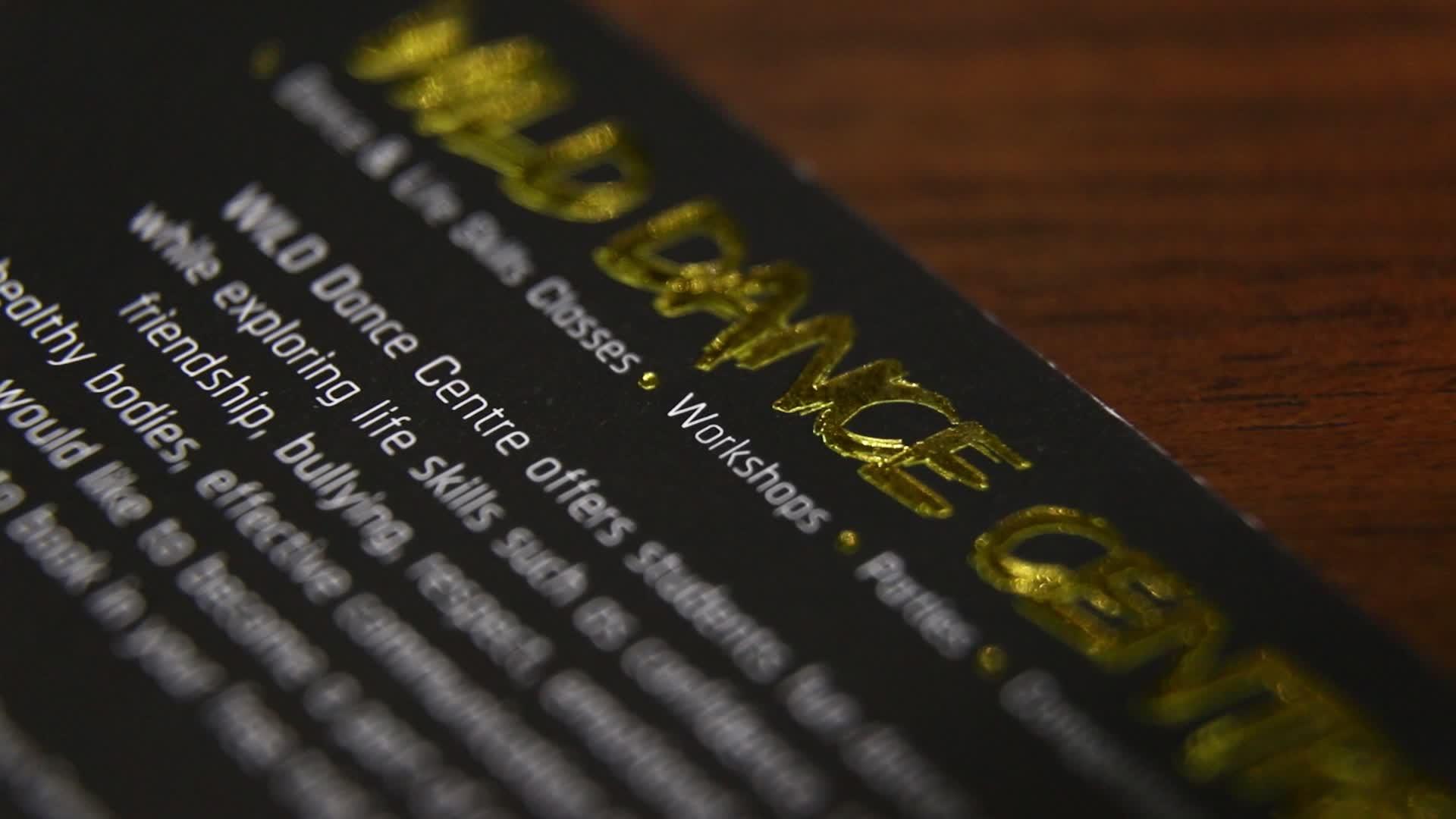 Luxus nach 800g dicken papier danke post karte mit folie logo