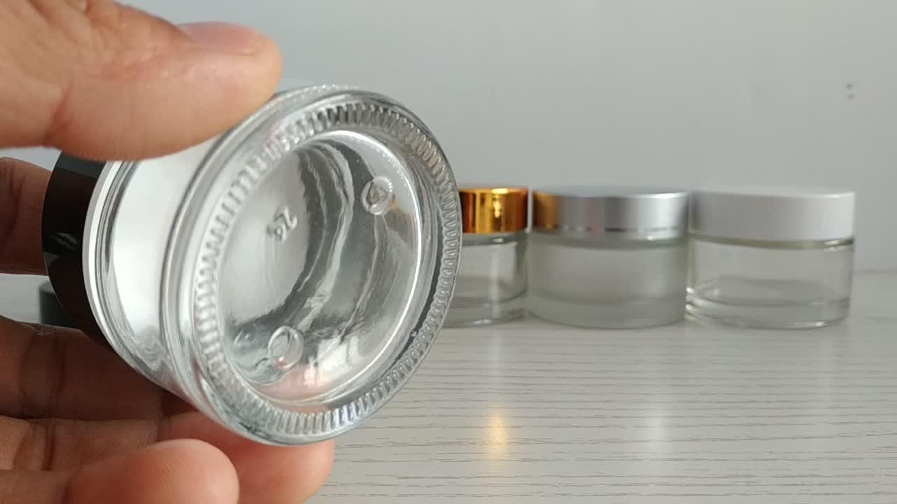 10g Glas Kosmetische Flaschen Gläser Für Kosmetik Verpackung Mit Splitter Schraube Kappe Für Körper 5g Auge Creme Silber kappe Glas