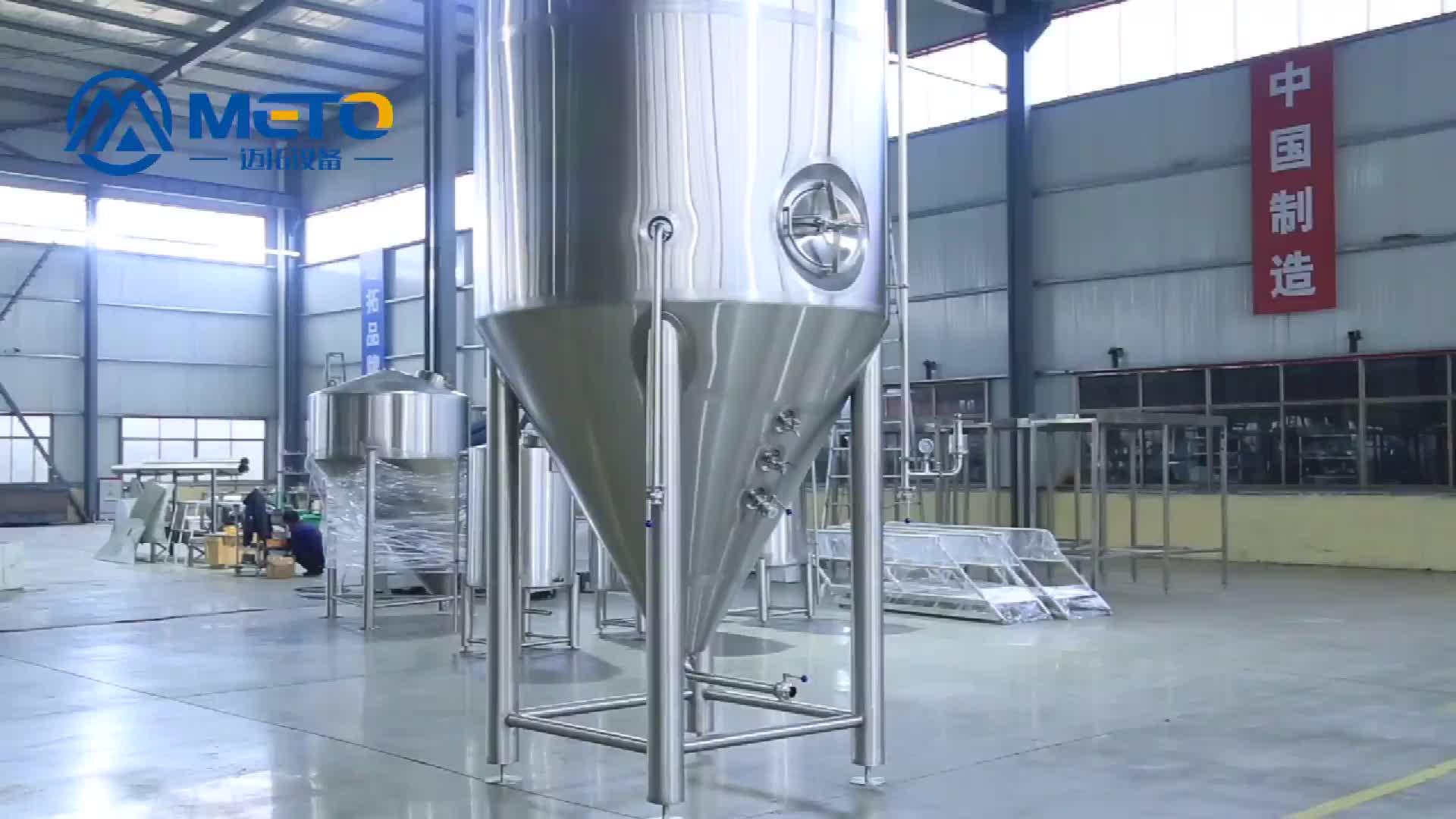 1000L 2000L बिक्री के लिए स्टेनलेस स्टील बीयर किण्वक टैंक औद्योगिक किण्वक Unitank