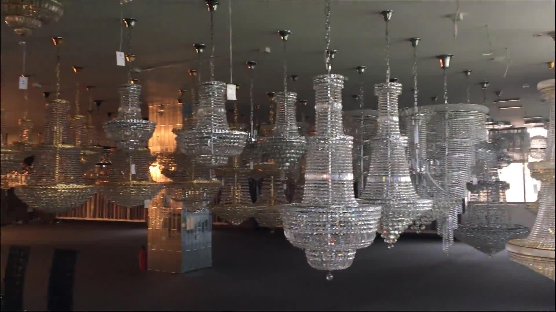Maatwerk ontwerp arc kristal kralen onregelmatige kristallen kroonluchter hotel lobby