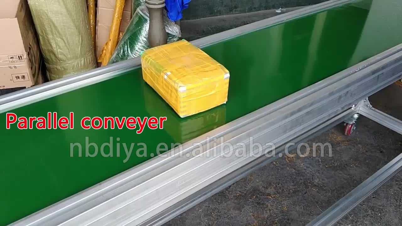 DY90 Assembly Line industrial transfer green pvc Belt Conveyor for Workshop