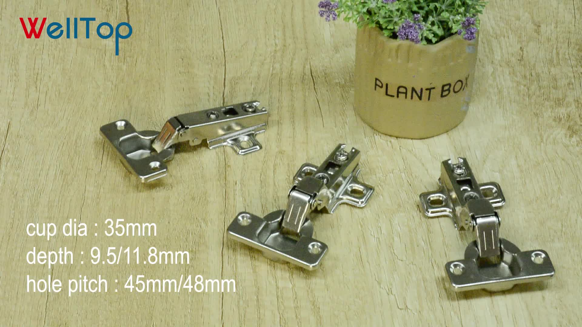VT-16.002-52 cabinet slide on two way hinge with weight 52g inset kitchen hinges for cabinets