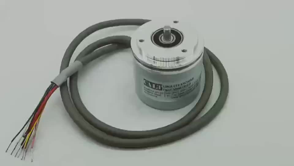 CALT 4-20mA output synchro flange 12 bits 4096 single turn absolute rotary encoder solid shaft encoder CAS60S12E6LB