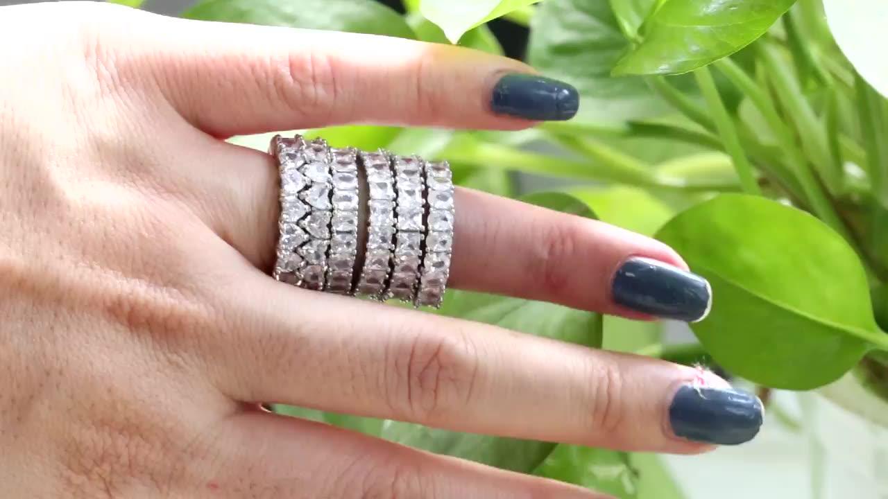 Bagues en argent Sterling zircone cubique pour femmes et hommes, bijoux personnalisés, simples, pour Couple, fiançailles, mariage, éternité, pour filles