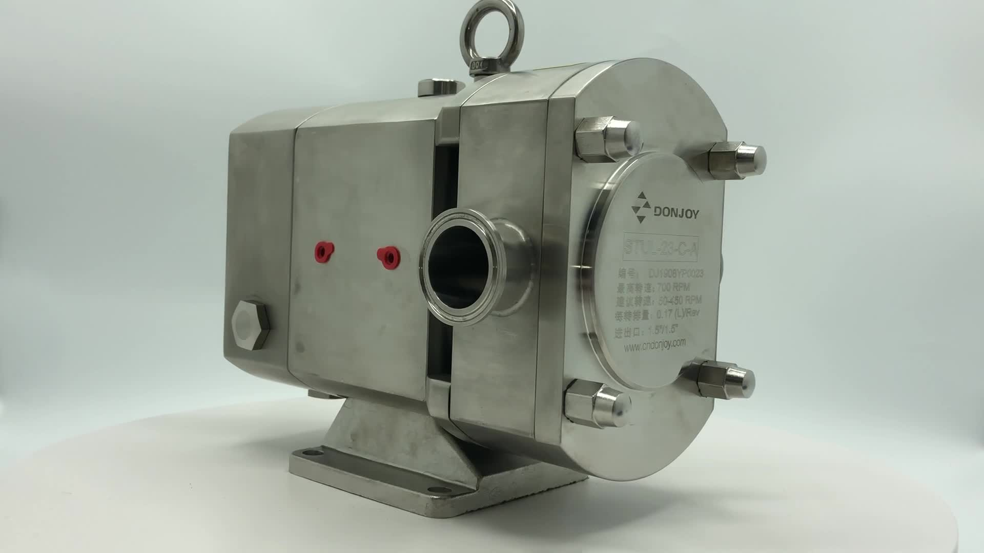 DONJOY SS316L stainless steel sanitary cam pump with heat jacket for candy gum and chocolate