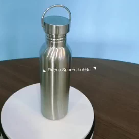 Promotion 1000ml sport thermal insulated bamboo lid double wall stainless steel drinking water bottle