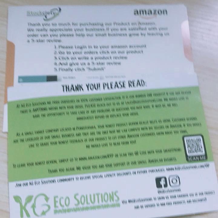 OEM \ ODM Penuh Warna Amazon Terima Kasih Kertas Kartu