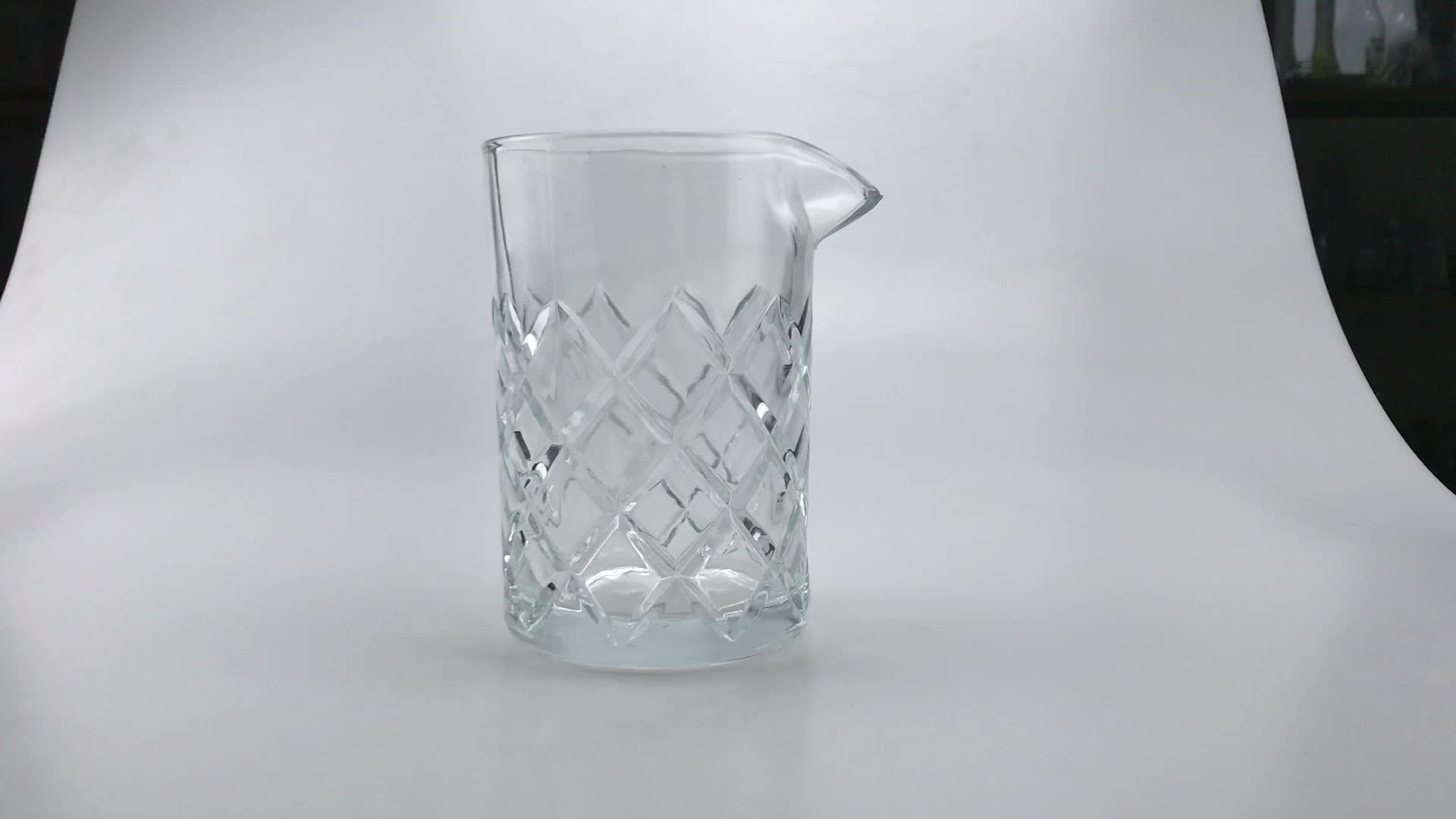 500ml wholesale bar ware customized barware crystal cocktail mixing glass with OEM logo
