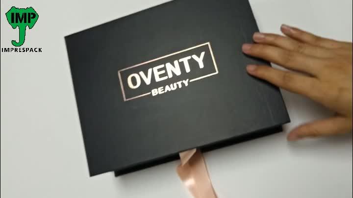 صندوق تعبئة وتمديد الشعر مخصص لحزم شعر مستعار أسود للبيع بالجملة بعينة مجانية